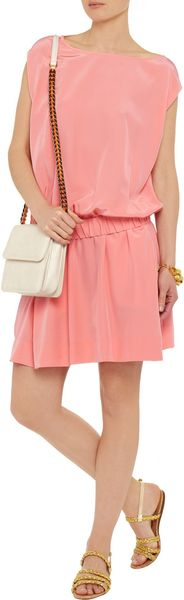 Diane Von Furstenberg Tomori Silk Dress in Pink (coral) - Lyst