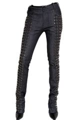 Diesel Black Gold Studded Denim Slim Fit Jeans - Lyst
