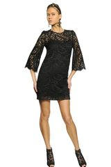 Dolce & Gabbana Viscose Cotton Lace A-line Dress - Lyst
