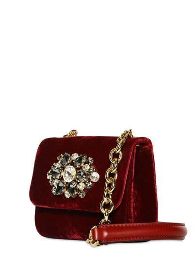 Lyst - Dolce   Gabbana Velvet Charles Bag in Purple 66d5281f7baa9