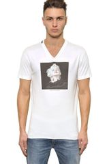 Dolce & Gabbana Marilyn Cotton Jersey V- Neck T-Shirt - Lyst