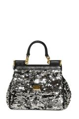 Dolce & Gabbana Mini Miss Sicily Sequined Shoulder Bag - Lyst