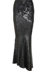 Donna Karan New York Sequined Stretch jersey Maxi Skirt - Lyst