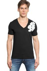 DSquared2 Flower Printed Cotton Jersey T-Shirt - Lyst