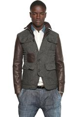 DSquared2 Mixed Fabric Military Jacket - Lyst