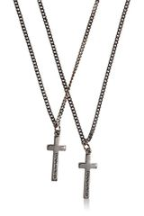 DSquared2 Logo Embossed Cross Pendant Necklace - Lyst