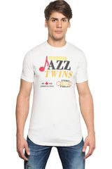 DSquared2 Jazz Twins Printed Cotton T-Shirt - Lyst