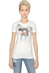 DSquared2 Printed Cotton Jersey Tshirt - Lyst