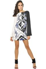 Emilio Pucci Printed Crepe De Chine Dress - Lyst