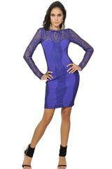 Emilio Pucci Lace and Viscose Punto Milano Dress - Lyst