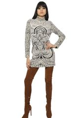 Emilio Pucci Wool Jacquard Knit Dress - Lyst