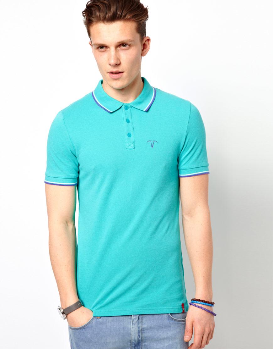 8637c4d4108 Esprit Pique Polo Shirt in Blue for Men - Lyst