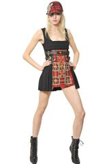 Fausto Puglisi Embroidered Wool Crepe and Tartan Dress - Lyst