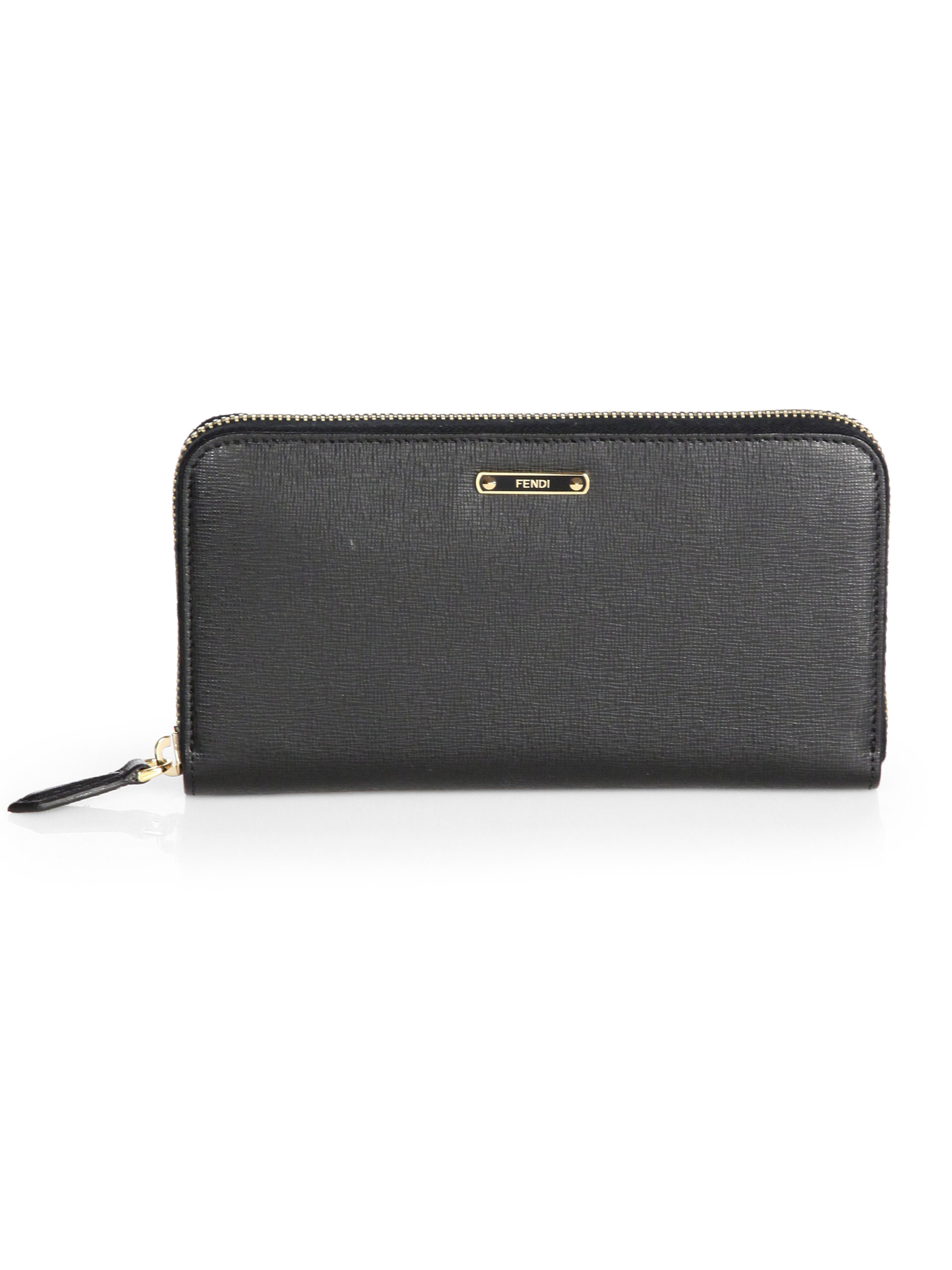 Fendi Zip around leather wallet qvlymXM0