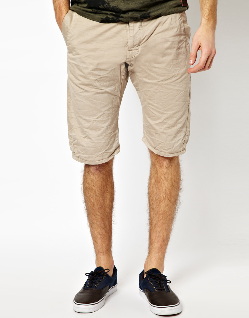 G-star raw Shorts Bronson Chino Loose Tapered in Natural for Men ...