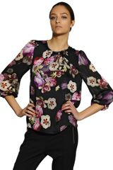 Giambattista Valli Printed Silk Charmeuse Shirt - Lyst