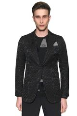 Giorgio Armani Diamond Jacquard Techno Cotton Jacket - Lyst