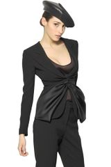 Giorgio Armani Silk Organdy and Silk Crepe Jacket - Lyst