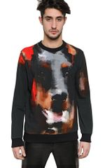 Givenchy Cuban Fit Printed Fleece Sweatshirt - Lyst