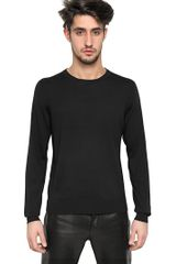 Givenchy Embroidered Wool Knit Round Neck Sweater - Lyst