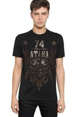 Givenchy Satana Cuban Fit Cotton Jersey T-shirt - Lyst