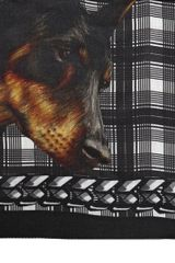 Givenchy Doberman and Tartan Wool Gauze Scarf - Lyst
