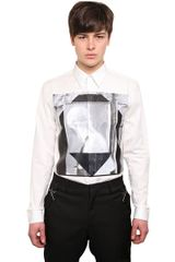 Givenchy Rubber Printed Cotton Poplin Shirt - Lyst