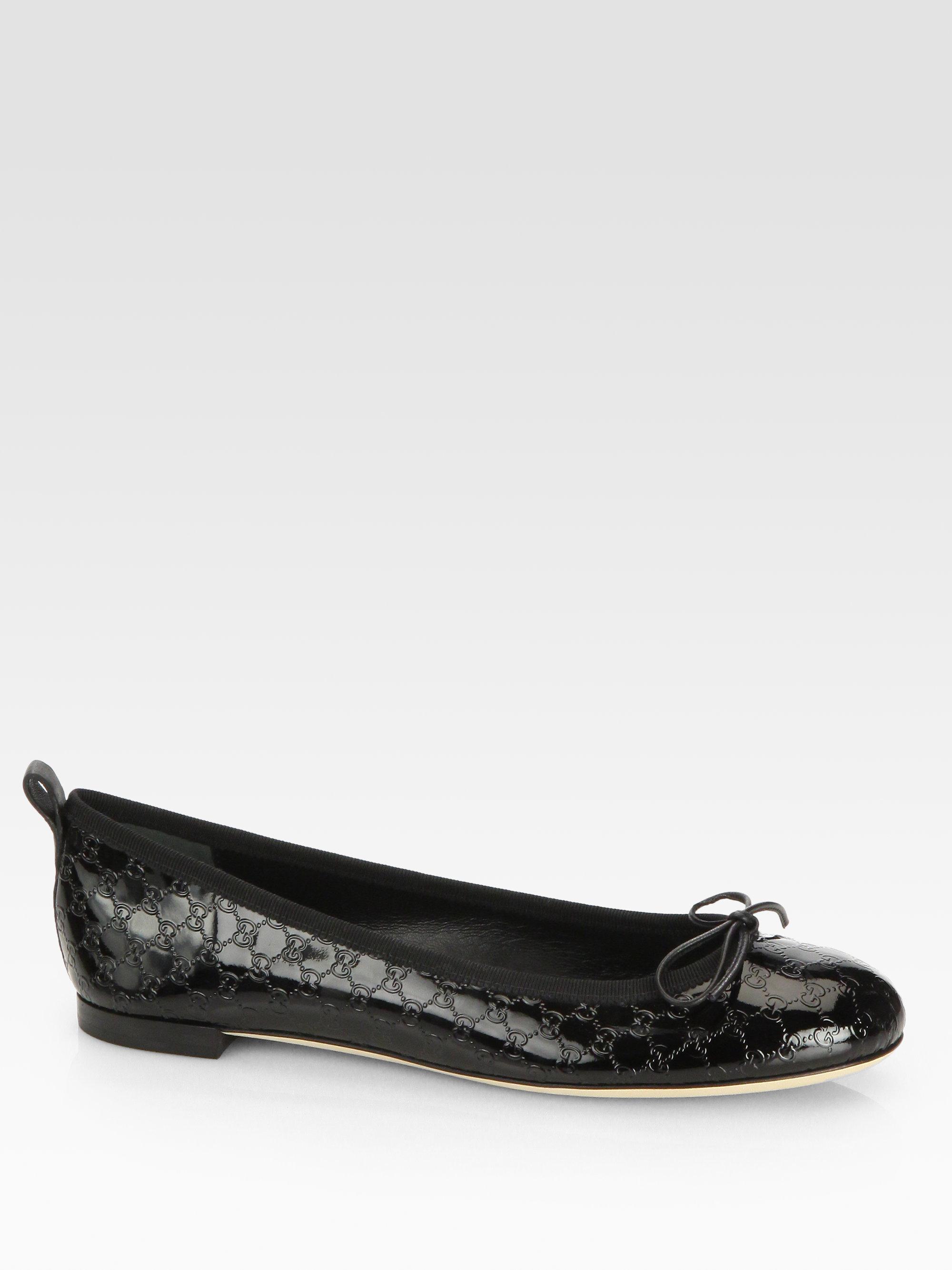 GucciPatent Leather Flats YBdYlwh39