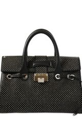 Jimmy Choo Medium Rosalie Micro Studded Leather Bag - Lyst