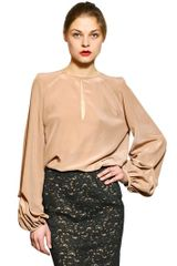 Jo No Fui Silk Crepe De Chine Top - Lyst
