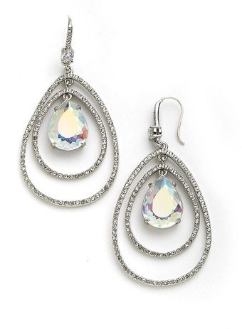 Juicy Couture Pave Teardrop Orbital Earrings - Lyst