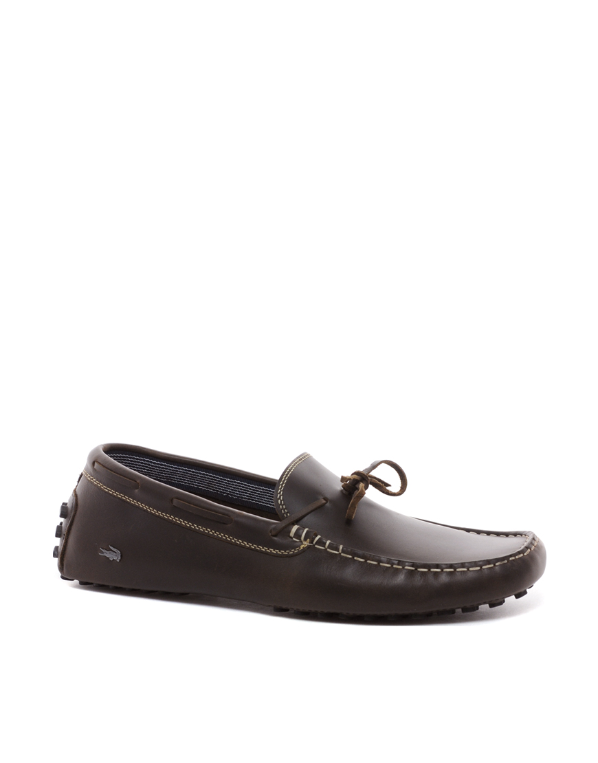 971911a68c1ef5 Lyst - PUMA Lacoste Concours Driving Shoes in Brown for Men