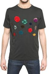 Lanvin Embroidered Cotton Jersey Tshirt - Lyst