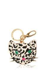 Lulu Guinness Wild Cat Brass Key Holder - Lyst