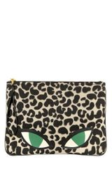 Lulu Guinness Wild Cat Printed Canvas Large Clutch - Lyst