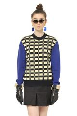Marni Virgin Wool Jacquard Knit Sweater - Lyst