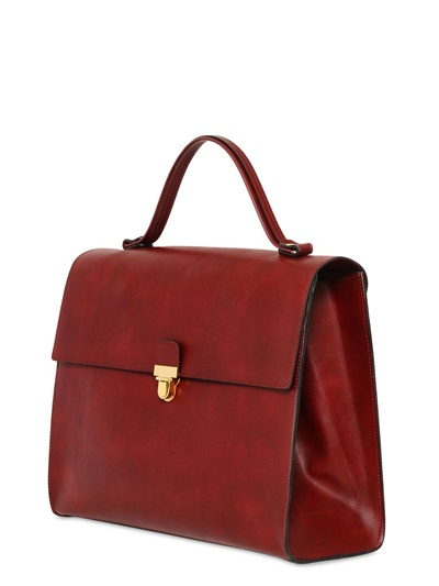 Marni Faux Leather Satchel in Red   Lyst