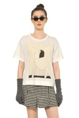 Marni Printed Stretch Cotton T-shirt - Lyst
