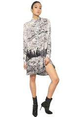 Mary Katrantzou Printed Double Georgette Shirt Dress - Lyst
