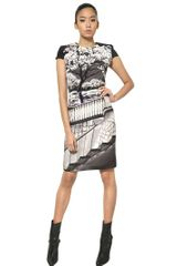 Mary Katrantzou Printed Heavy Silk Crepe Dress - Lyst