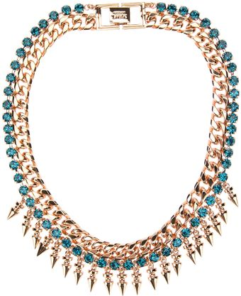Mawi Spike Necklace with Crystals - Lyst