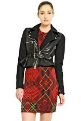 McQ by Alexander McQueen Leather Wool Biker Jacket - Lyst
