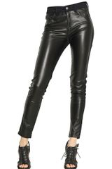 McQ by Alexander McQueen Stretch Denim and Eco Leather Jeans - Lyst