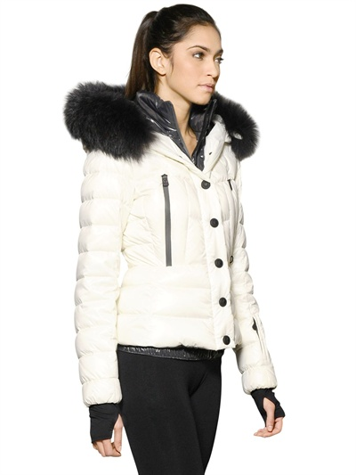 Lyst Moncler Grenoble Bever Raccoon Fur Hood Nylon Down