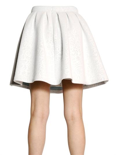 06c488eb0c MSGM Neoprene Flared Skirt in White - Lyst