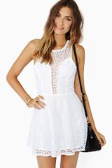 Nasty Gal Alanna Lace Skater Dress - Lyst