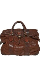 Officine Creative Washed Vintage Leather Bag - Lyst