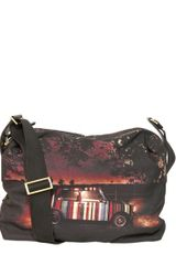 Paul Smith Mini Print Canvas Pc Holder Bag - Lyst
