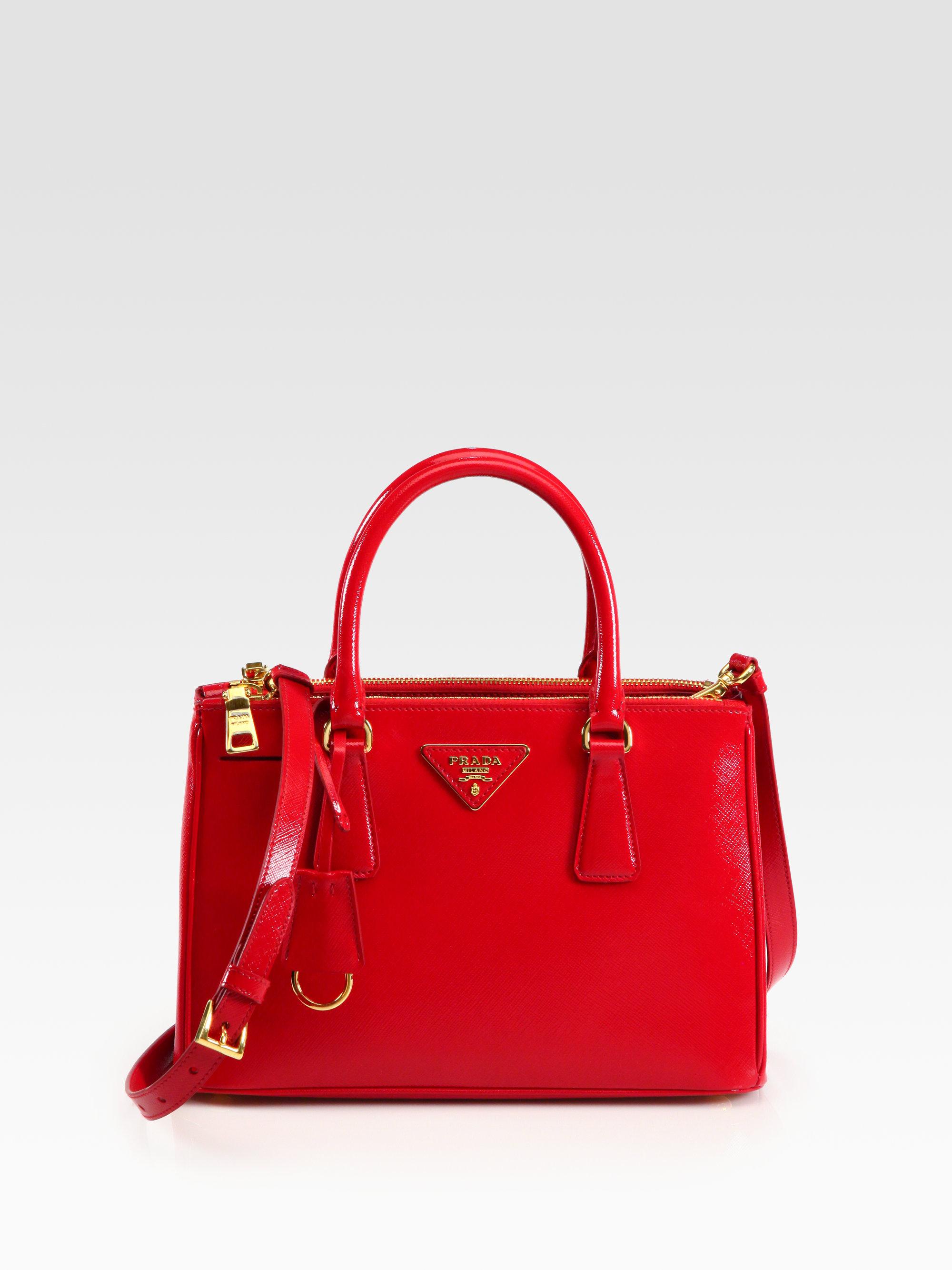 c56735b48af1 ... purchase prada saffiano vernice tote in red lyst 9ba33 e3e9e