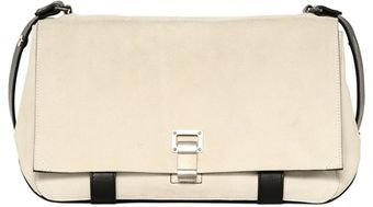 Proenza Schouler Ps Courier Two Tone Suede Shoulder Bag - Lyst